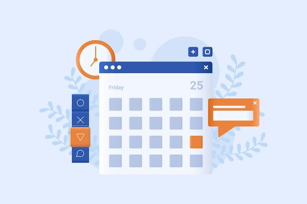 Horário de negócios vector ilustração design plano