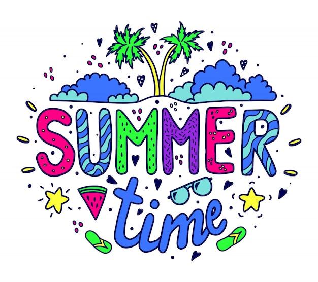 Horário de verão composição brilhante fonte
