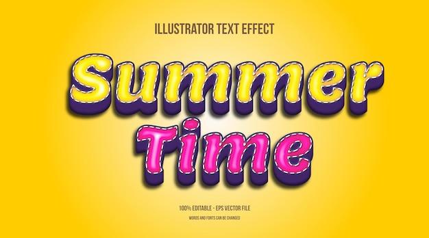 Horário de verão, efeito de texto bonito