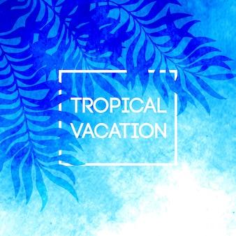 Horário de verão. ilustração de folhas de palmeira tropical