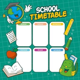 Horário de volta às aulas