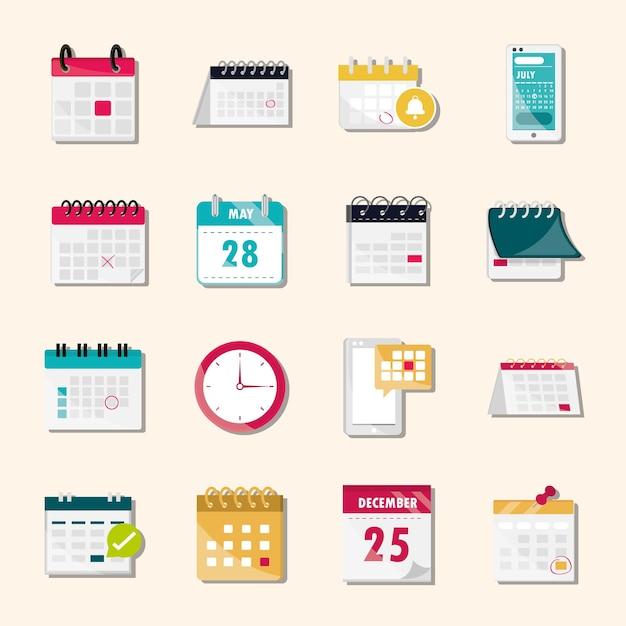 Horário do calendário definido