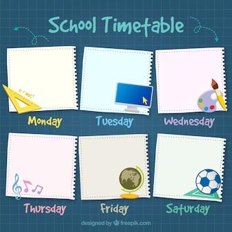 Horário escolar bonita
