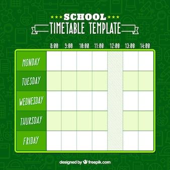Horário escolar verde