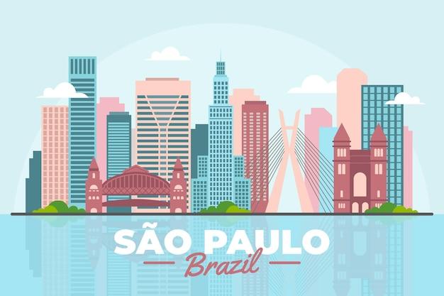 Horizonte colorido de são paulo brasil
