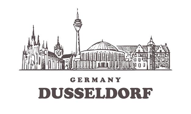 Horizonte de dusseldorf na alemanha