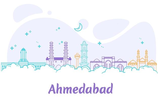 Horizonte linear de ahmedabad