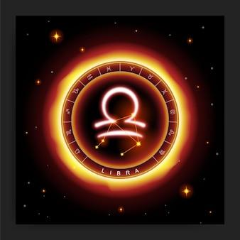 Horóscopo de libra e símbolo da constelação do zodíaco