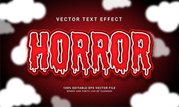 Horror estilo de texto 3d com tema e mistério