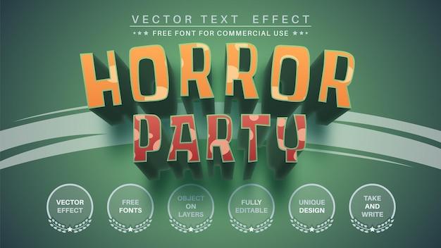 Horror halloween editar estilo de fonte de efeito de texto