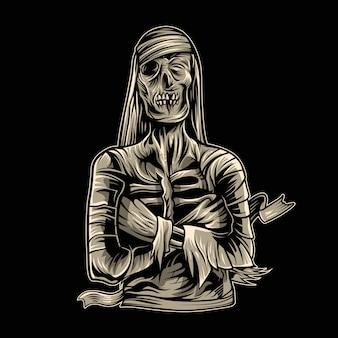 Horror múmia assustador