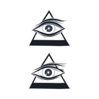 Horus one eye theme - ilustração de arte em vetor