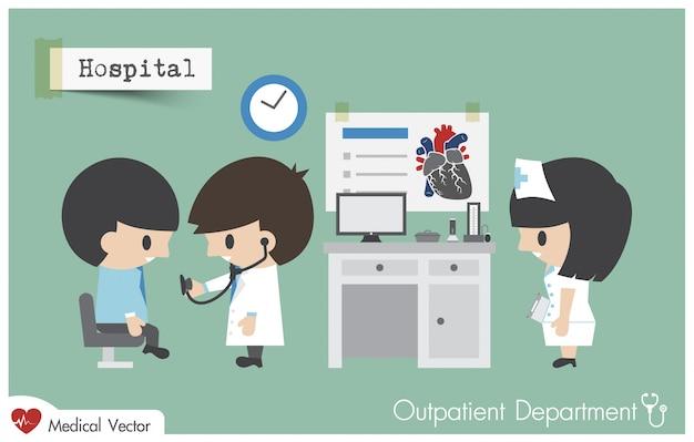 Hospital de departamento de paciente externo