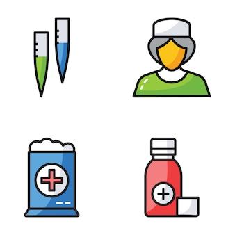 Hospital e ícones clínicos