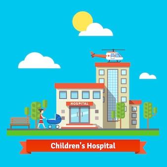 Hospital infantil e edifício da clínica