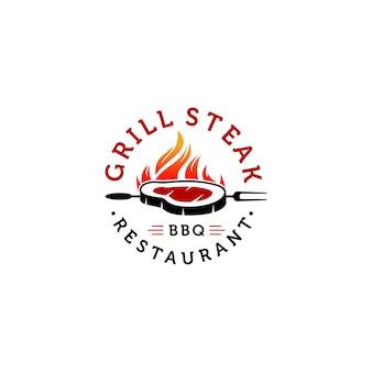 Hot grill logo templates