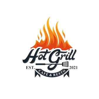Hot grill logo