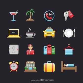 Hotéis e viagens icons