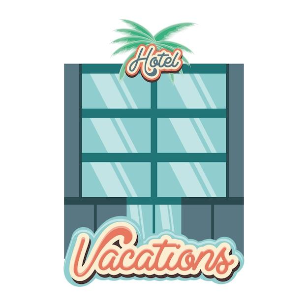 Hotel construção férias dias ícone vectorilustration frente