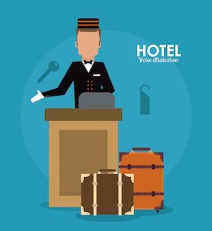 Hotel. ícone de serviço.
