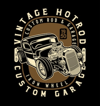 Hotrod de roda de ferro