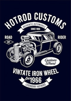 Hotrod design ilustração