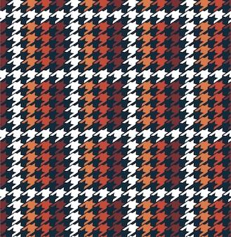 Houndstooth de grade de inverno elegante no padrão sem emenda de forma quadriculada em vetor, design de moda, tecido, papel de parede, entortamento e todo o tipo de gráfico