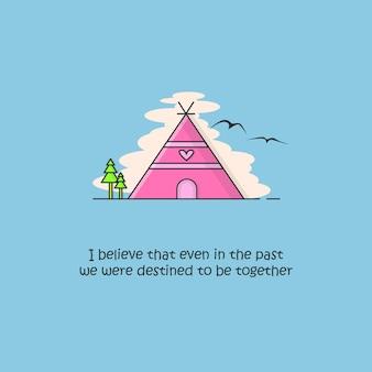 House & romantic quote