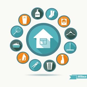 Housekeeping coleção ícone