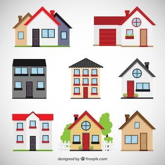 Houses collection Vetor Premium