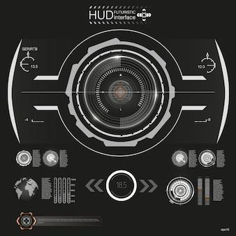 Hud abstrato. conjunto de interface de usuário futurista de sci fi modern.