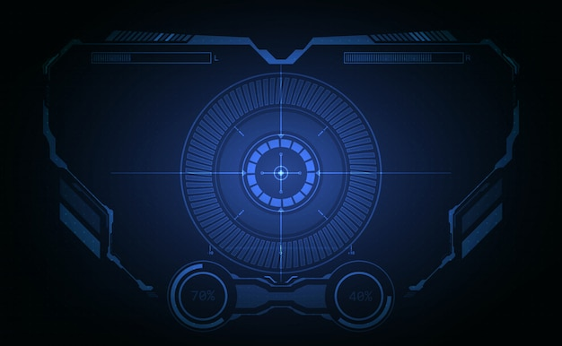 Hud interface aeronaves sistema gráfico tela plano de fundo
