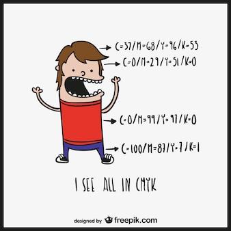 Humor dos desenhos animados do desinger