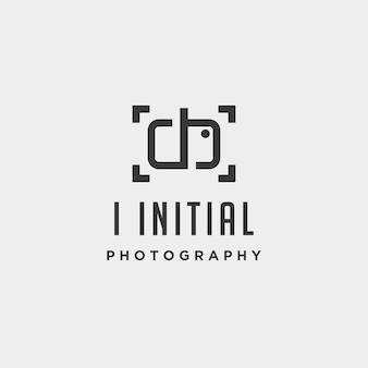 I elemento de ícone de design de vetor de modelo de logotipo de fotografia inicial