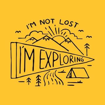 I'm not lost explorando ilustração gráfica arte vetorial design de t-shirt