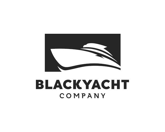 Iate cruise boat ship for ocean vacation inspiração para o design do logotipo