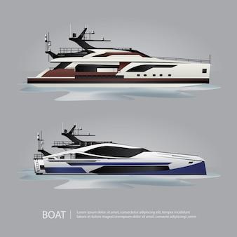 Iate de turismo barco de transporte