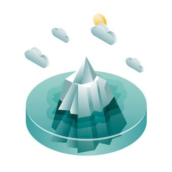 Iceberg de desenho isométrico
