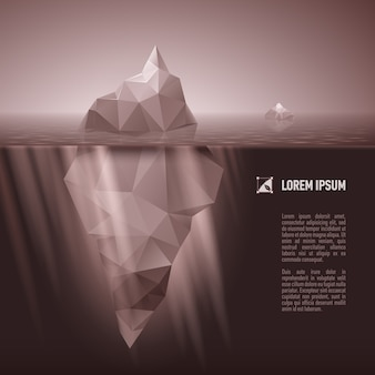 Iceberg debaixo d'água