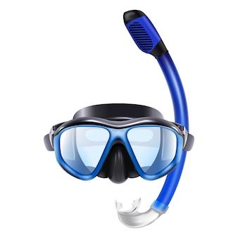 Icon ilustração de mergulho azul volta com tubo. isolado no fundo branco