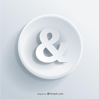 Ícone 3d ampersand