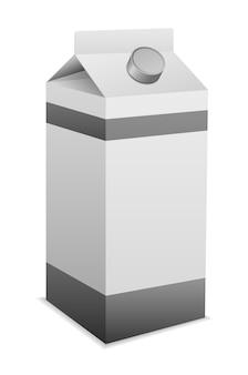 Ícone 3d da caixa de embalagem de leite isolado em branco