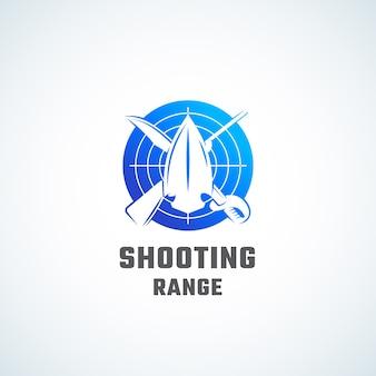 Ícone abstrato do campo de tiro, símbolo ou modelo de logotipo.