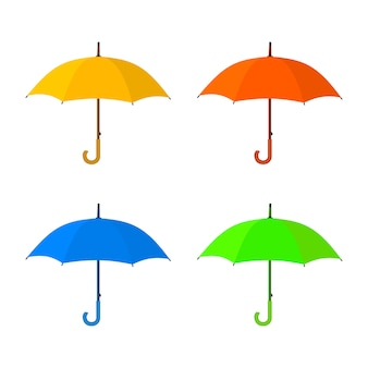 Ícone amarelo guarda-chuva.