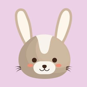 Ícone animal bonito coelho