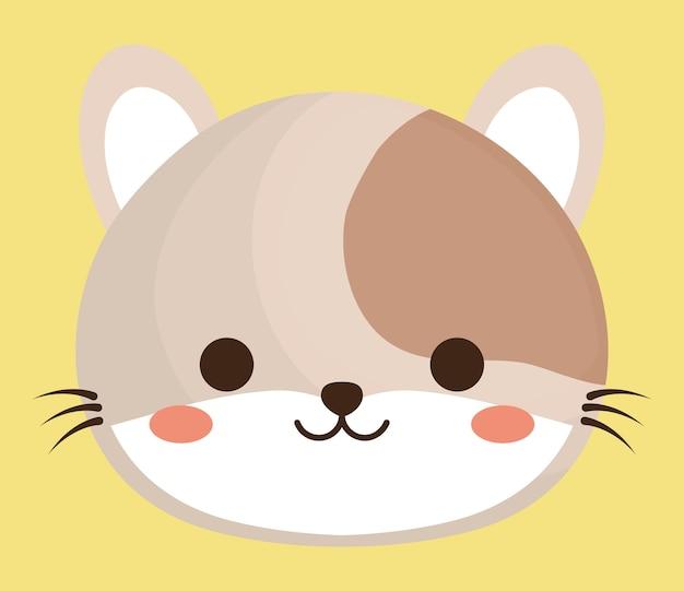 Ícone animal bonito gato