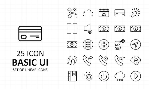 Ícone básico da interface do usuário pixel perfect icons