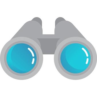 Ícone binocular, visão espiã e símbolo de descoberta