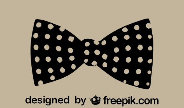 Ícone bolinhas retro gravata borboleta