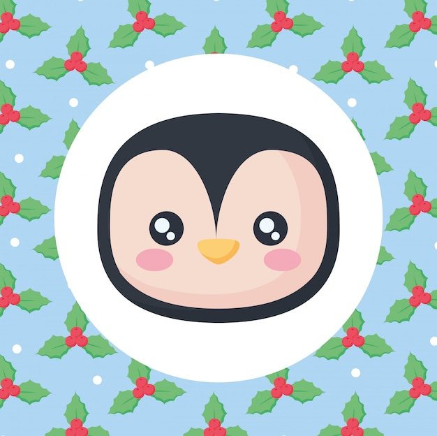 Ícone bonito pinguim